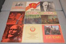 Set of 22 Vinyls Records LP Lenin Anthem Soviet Party Communism Propaganda USSR
