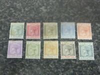 GIBRALTAR POSTAGE STAMPS SG22,23,25-29 31-33 UMM x2 & MM LITTLE FOXING ON 1 OR 2