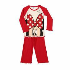 DISNEY pyjama fille MINNIE 2 pièces rouge écru taille 6 ans neuf