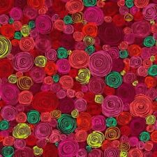 Free Spirit Kaffe Fassett Rolled Paper PWGP158.Red Contemporary Cotton Fab BTY