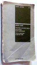 SUNTI CETIM MARIO ZANE TECNICA BANCARIA 1980