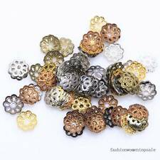 *500pcs*6mm*Silver Gold Plated Metal Flower Bead Caps Jewelry Findings DIY Craft