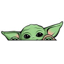 Baby Yoda Peeking Sticker - Grogu Funny Mandalorian Phone Car Window Vinyl Decal