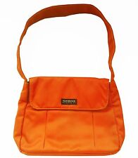 Yak Pak Brooklyn Original NY NYC Orange Purse Handbag Shoulder Bag Grey Lined