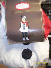 NIP Trim-A-Home Snowman Costume For Toddler's 1-2 Years -ADORABLE!-