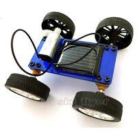 Blue Solar Toy Educational Models Kits DIY Car Hobby Robot Buliding Learning