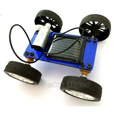 Blue Solar Toy Educational Models Kits DIY Car Hobby Robot Buliding Learning