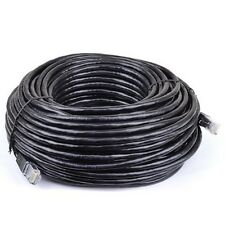 New 100 ft CAT6 Category 6 Patch Cord Cable RJ45 Booted Molded Black
