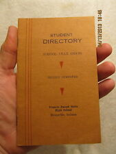 1934-1935 F.J. Reitz High School Student Directory Evansville IN 12 Pages RARE