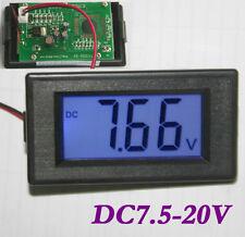 Digital Panel-Meter Voltmeter Spannungsmesser LCD Blau 7.5- 20V DC Deutsche Post