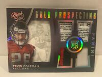 Tevin Coleman 2015 Panini Black Gold Prospecting  Relic Laundry RC Card  Falcons