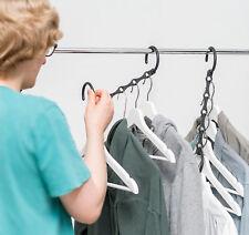 10 Stück Profi  Raumsparbügel + Kleiderschrank + Kleiderhaken +  Kleiderbügel +