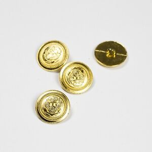 Gold Anchor Metal Shank Button 23mm - Clothes, Craft, Sewing