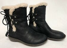 UGG Australia 1007760 Akadia Stout / Black Winter Booties Lace Up Boots Leather