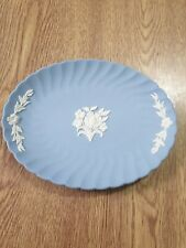 Wedgwood Floral Pin Tray - Blue Jasperware