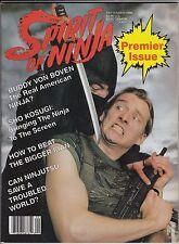 ninja-spirit of ninja magazine-premiere issue--september-1986-mint-80 pages