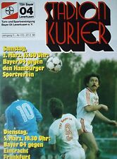 Programm 1984/85 Bayer 04 Leverkusen - Eintracht Frankfurt