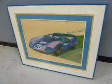 Vintage Ford GT40 George Bartell Poster Framed