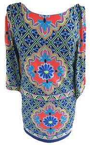 Laundry Shelli Segal Womans Size Medium Mandala Print Pullover Shift Dress