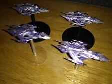 Babilonia 5 A llamada a brazos-blanco estrellas flota de naves pintado de 4-muy Raro!!!