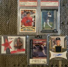 5 Card Baseball Lot, 2 Signed Cards,  Jose Berrios Asg Game Jersey, 2 other PSA