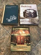 Lot of 3 Great Cookbooks Rao's Pellegrino Baking Greenspan Good Housekeeping