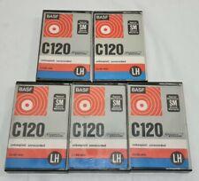 More details for 5x basf compact cassette audio tape c120 sm (2x 60 minutes) (see description)