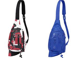 SUPREME Sling Bag Red Camo Royal cordura box logo S/S 21