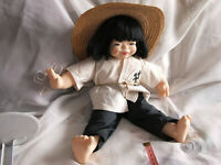 """""""LIAN"""" IS A VERY HAPPY CHINESE DOLL IN HER ORIGINAL OUTFIT BY  J.M.B JACOBSEN"""