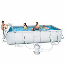 """Bestway Above Ground Steel Frame Swimming Pool 159""""x79""""x39.5"""" with Sand Filter"""
