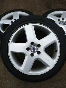"X1 VOLVO C30 S40 V50 2007-2010 5 SPOKE 17"" ALLOY WHEEL &Tyre 205 50 17"