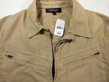 NWT Habitual Tan Cotton Zippered Womans Jacket Coat Zip Pockets NEW M