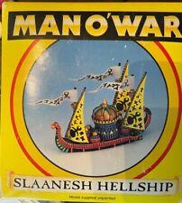 Citadel hombre O 'guerra Slaanesh hellship. con Caja. usado.. Pintado