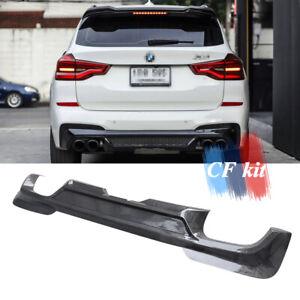 Carbon Fiber Rear Bumpers Diffuser Lip For 2018-2021 BMW X3 X3M G01 M Sport