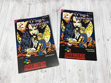 Snes leaflet/booklet: castlevania vampire's kiss EUR []