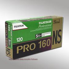 5 Rolls FUJI Pro 160NS 120 Color Print Professional film Fresh 2019
