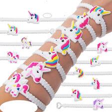 5Pcs Animals Unicorn House PVC Rubber Bracelet Wristband Bangle Xmas Party Gift