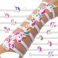 5PCS Unicorn Bracelets Wristbands for Kids Birthday Party Supplies Novelty Toys
