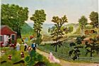 Grandma Moses Poster Reprint of Mary and the Lamb 20X14 Offset Lithograph Unsign