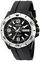 Casio Men's Super Illuminator Analog Black Resin Watch MTD1082-1AV
