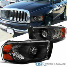 For 02-05 Ram 1500 03-05 Ram 2500 3500 Pickup Black Projector Headlights lamps