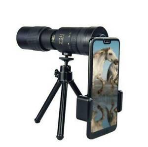 4K 10-300X40mm Super Telephoto Zoom Monocular Telescope Tripod & Clip Optional
