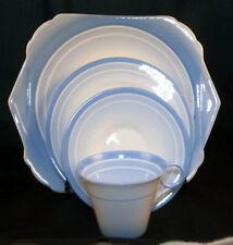 Shelley Art Deco/Nouveau style blue 4-piece set in excellent condition