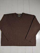 Woolrich VNeck 100% Wool Sweater Men's L