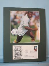 Soccer Great - Pele  and the First Day Cover of the World Cup of Soccer stamp