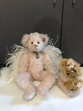 ANNETTE FUNICELLO SWEET GUARDIAN ANGEL BEAR MOHAIR w tags JOINTED Roses lot 2