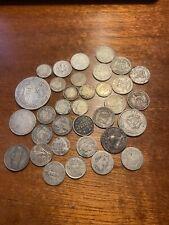 Lot monnaies diverses argent (+/- 94 gr Brut)