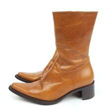 Steve Madden Sz 6.5 Roccco Cowboy Boots Honey Tan Leather