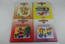 🔶Lot of 4 World of Teddy Ruxpin 1985 Books The Airship Lullabies Christmas