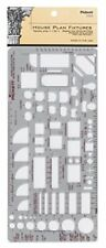 Pickett House Plan Fixtures Kitchen and Bath Template, 1/4 Inch Scale